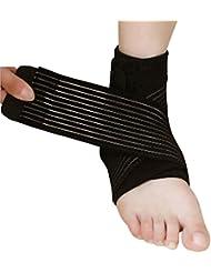 ZJchao Poignet, coude, genou Wrap Bandage, Velcro elastique Bandage de soutien Pour le sport Universel taille différente disponible (Noir, 76cm)