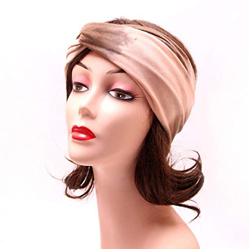 Koojawind Kopfbedeckungen, Mode Vintage Headwrap Tube Wash Gesichtsmaske Multifunktionale Kopfbedeckungen, Frauen Boho Knoten Stirnband Elastic Wrap Turban Haarband Yoga Sport