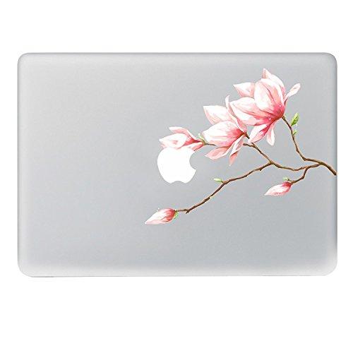 50 - Sticker Adhesivos para Macbook, Desprendibles Creativo Color Flores Dibujos Animados Art Calcomanía Pegatina para MacBook Pro/Air 13 Pulgadas Portátil (Flor de melocotón)
