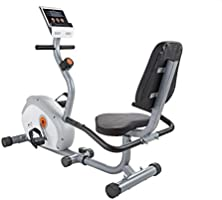 V-fit Unisex Adult G Series RC Recumbent Exercise Bike - Black/Orange/Silver, One Size