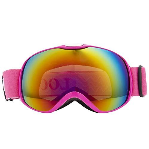 Skibrille, Professionelle Snowmobile Snowboard Skate Skibrille und Super-Weitwinkel, Doppelscheibe,...