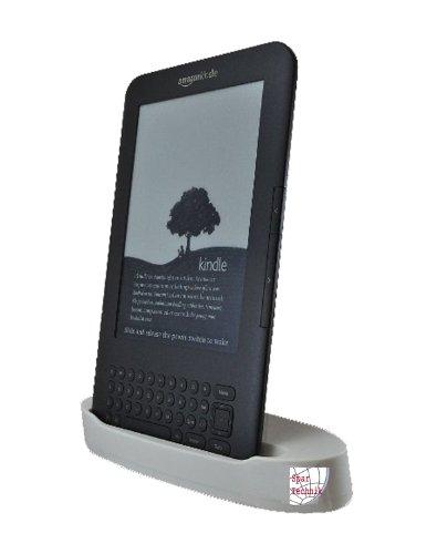 Kindle-cradle-ladegerät (Dockingstation Kindle 3. Cradle für AMAZON e-Book Reader Kindle III WiFi & 3G. Tischladestation für Datenaustausch und Laden - weiss)