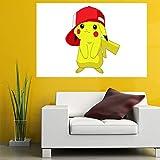 KingJob Autocollant Mural Affiche en PVC imprimé avec des Pokémon Anime Janpanese (19.6'× 27.5' / 50 × 70cm) (Taille ou Impression Personnalisable) (No.1,50 × 70 cm)