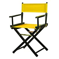 """Casual Home 200-02/021-34 Director's Chair Black Frame Canvas, 18""""-Classic Height, Gold"""