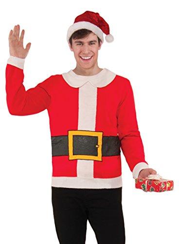 Forum Novelties, Inc Unisex Naughty Snow Couple Weihnachten Pullover Gr. XL, Ugly (Naughty Santa Kostüm)