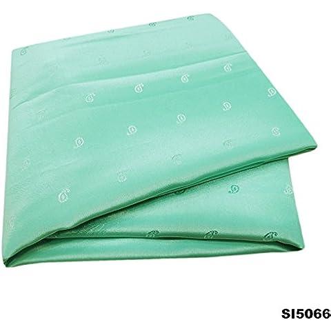 Sari Indio De La Vendimia Mano Verde Tejida Hecha A Mano Del Vestido De Paisley Diseño Bollywood Crepé De Seda Sari 5Yd