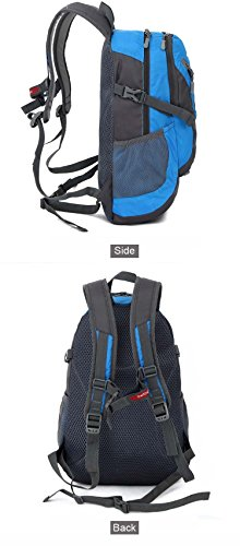 25L Zaino Trekking Campeggio Zaino Sacchetto Di Nylon impermeabile zaino escursionismo outdoor sports professionale alpinismo borse da viaggio, Red Blue