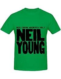 Neil Young Archives Volume 1 1963 1972 Rock Mens 100 Cotton Tee Shirts XXXX-L