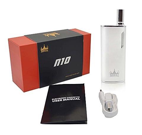 NOVEL™ N10 Mini Box Mod Starterset Elektronische Zigarette E-Zigarette ohne Nikotin (Silber)