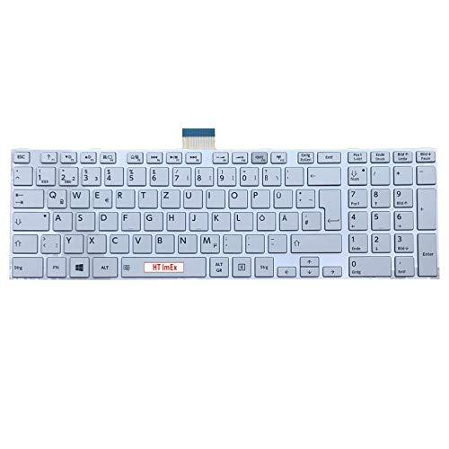Weiß - Version 1 - Deutsche Tastatur für Toshiba Satellite L50-B-15, L50-B-1M2, S55t-A5389, L50D-10F, L50-B-1U5, S50T-A-107 (Toshiba S55t Laptop)