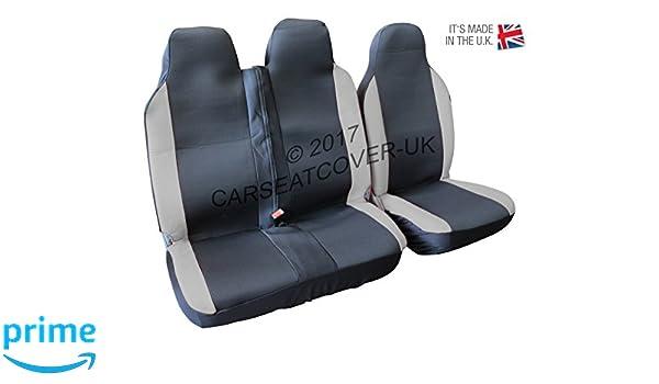 DOUBLE FIAT DUCATO SINGLE HEAVY DUTY GREY LEATHERETTE VAN SEAT COVERS