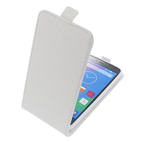 foto-kontor Tasche für Phicomm Energy L Smartphone Flipstyle Schutz Hülle weiß