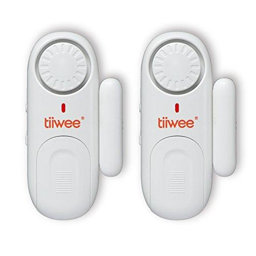 tiiwee Fensteralarm Türalarm 120 dB Einbruchschutz - 2er Set mit Batterien (Zu Fenster Für Alarme Hause)