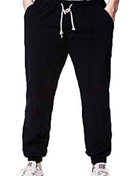 Pantalones Largos de Yoga para Hombres Pilates Salón de Artes Marciales para Dormir Ropa Suave y cómoda en Alta...