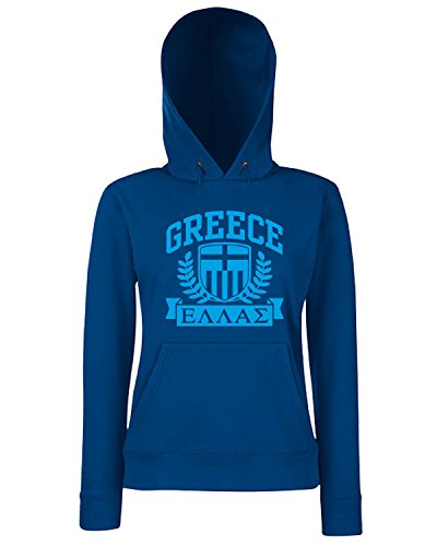T-Shirtshock - Sweats a capuche Femme TSTEM0105 greece tshirt Bleu Navy