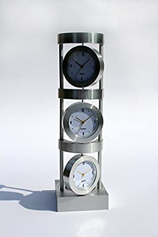 Business Office Contemporary Aluminium Desk Table Clock Decoration World Times Display Home Hotel Decoration