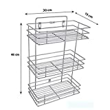 #9: VDNSI Triple Layer Stainless Steel Multipurpose Storage Rack/Shelf, Kitchen Rack