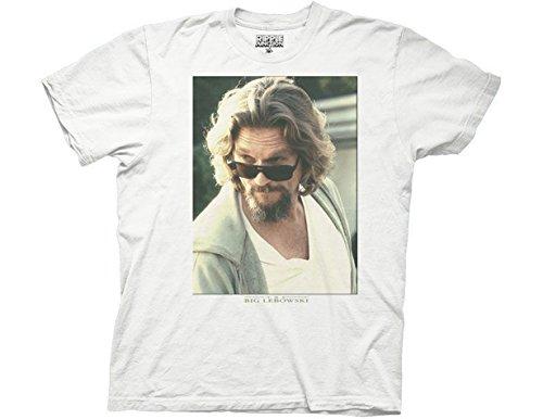 Ripple Junction Big Lebowski The Dude T-Shirt für Erwachsene - Weiß - Klein