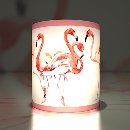 (Kartenkaufrausch 5 Elegante Papier Windlichter| Teelichthalter| Transparent Leuchten schönen Flamingos)