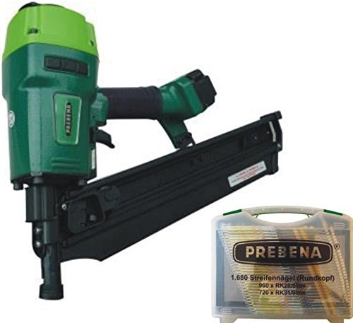 PREBENA® Druckluftnagler 7XR-RK90 + RK-BOX