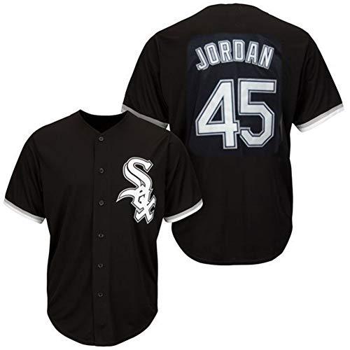 Komfortabel Jersey Baseball Trikot MLB Major League Chicago White Sox 45# Jordan Stickerei T Shirt Tops für Männer Jugend,Adult-XL