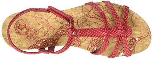 Panama Jack Dori Snake, Sandales Bout Ouvert Femme Rouge (Red)