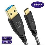 Cavo USB Type-C 3.0, Tronsmart Cavo USB Tipo C [2-Pezzi] Nylon Cavi Intrecciato Ricarica e Trasmissione Dati per Samsung Note 9 / Note 8 / S9+ / S9 / S8+ / S8, HUAWEI P20 / P10, Google Chromebook ecc.