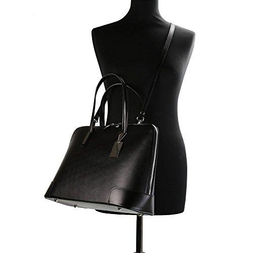 OLIVIA , Damen Henkeltasche, schwarz (Schwarz) - 2874 schwarz