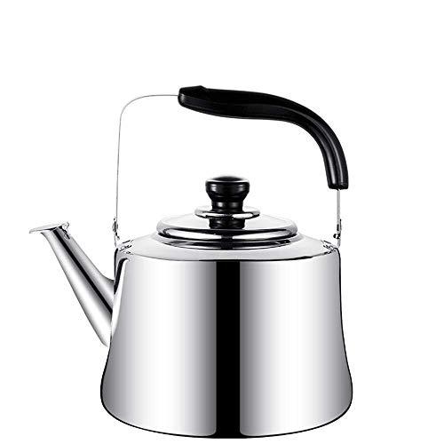Geng Pfeifender Kessel, Lebensmittelqualität Mit Großer Kapazität Wasserkocher, Edelstahl Teekanne, Wasserkaraffe Mit Einem Klappgriff (Size : 6L)