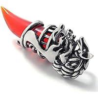 Daesar Collane Acciaio Inossidabile Pendenti Di Collana Uomo Ciondolo Collana Denti Progettazione