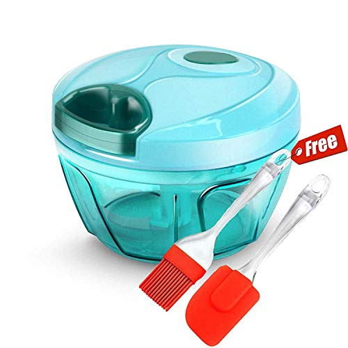 SynSo Mini Food Chopper,Manual Express Food Chopper for Vegetable Fruits Nuts Onions Chopper Hand Pull Mincer Blender Mixer Food Processor