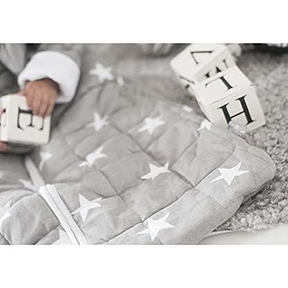 41RuobLf4zL. SS416  - Jollein 016-541-64966Saco de dormir para las 4estaciones para Little Star con mangas desmontables, 90cm, Gris
