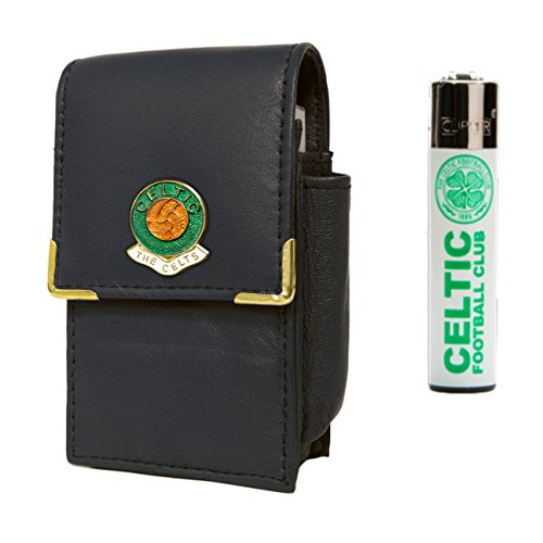 Awesome Gifts Celtic Football Club Zigarettenschachtel Halter und Clipper Gas-Feuerzeug - Für Clippers Andis