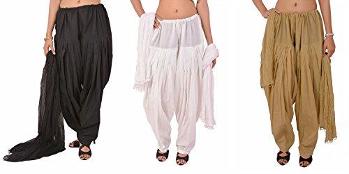 Stylenmart Women's Cotton Patiala Salwar & Dupatta Combo Offer (STMATWCPD078607_Multi-Coloured_Free Size)