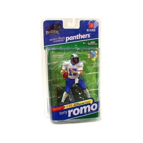 Tony Romo Jersey (McFarlane Sportspicks: NCAA Football Series 2 Tony Romo (Eastern Illinois Panthers, White Jersey Variant) Action Figure by McFarlane Toys)