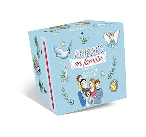 Coffret prières en famille pour tous les moments de l'année : Contient 75 cartes de prières et un petit livret de prières