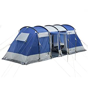skandika montana 6 tente de camping tunnel familiale pour 6 personnes bleu 650 x 240 cm amazon. Black Bedroom Furniture Sets. Home Design Ideas
