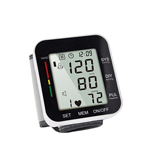 LQUIDE Blutdruckmessgerät Handgelenk,99 Speichereinträge Für 2 Benutzer, Positionserkennung Für Genaue Messwerte, Herzschlaganzeige Für Den Heimgebrauch