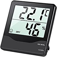 AMIR Digital Hygrometer Thermometer, Room Thermometer, Monitor Temperature and Humidity Meter with Large LCD Screen, MIN/MAX Records, Accurate Readings, °C/°F Switch, for Home, Office, Christmas etc.