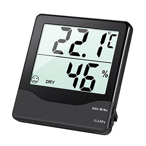 AMIR Hygrometer Thermometer, Digital Luftfeuchtigkeit Messer Thermometer...