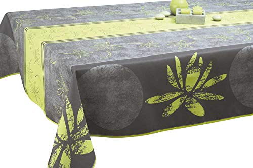 Nappe anti-taches Lotus anis - taille : Rectangle 150x240 cm