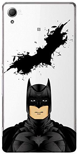 URBAN KOLOURS Original Designer Printed Clear Case Back Cover for Sony Xperia Z3 Plus (Calm Batman-Clear)