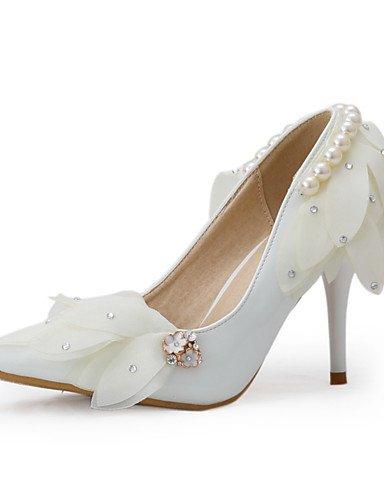 WSS 2016 Chaussures de mariage-Blanc-Mariage / Soirée & Evénement-Talons / Bout Pointu-Talons-Homme 3in-3 3/4in-us7.5 / eu38 / uk5.5 / cn38