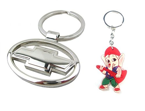Parrk Stylic Metal Chevrolet With Bal Ganesh Key Chain  available at amazon for Rs.189