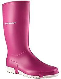 Nuevo Dunlop Purofort + completo safety Botas, Sin puntera de acero rosa - K272111