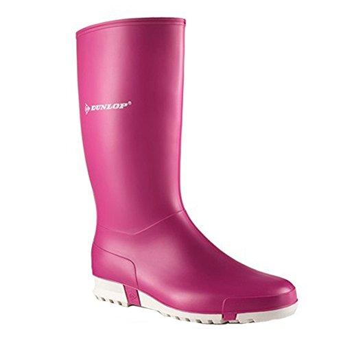 Dunlop Sport pink , Damengummistiefel in pink pink/weiss