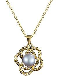 9779462e0be0 Onefeart Chapado en Oro Colgante Collar para Mujeres Niñas Zircon