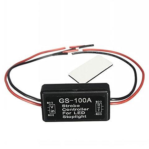 ungfu Cool 1pc 12V LED Contrôleur de flash Module universel de voiture de moto de frein Stop Lumière