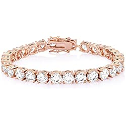 Ananth Jewels Set with Swarovski Zirconia Solitaire Luxury Collection Rose Gold Plated Bangles and Bracelet for Women