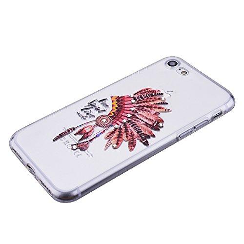 HB-Int Bling TPU Coque pour Apple iPhone 6 Plus / iPhone 6S Plus (5.5 pouces) Transparente Housse Etui Belle Motif Coque Ultra Mince Paillette Case Cover Gel Silicone Souple Couverture Légère Slim Fle hat